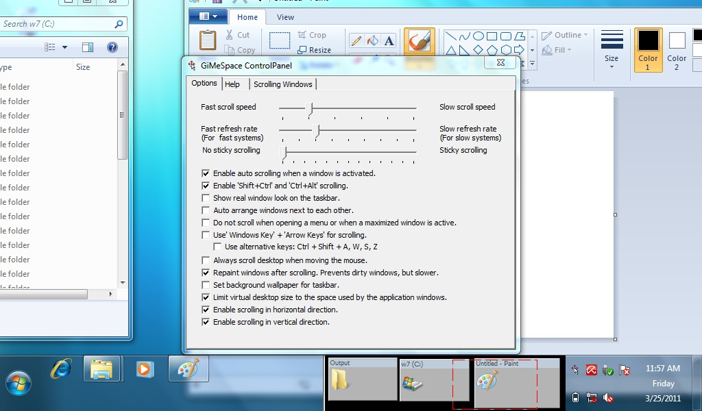 GiMeSpace Ultimate Taskbar Screen shot
